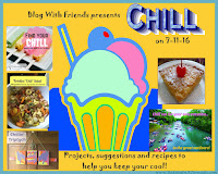"""Blog With Friends, monthly projects based on a theme. July's theme is """"Chill"""". 