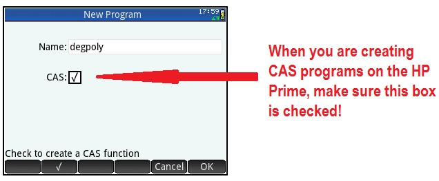 how to draw polynomial on cas calculator