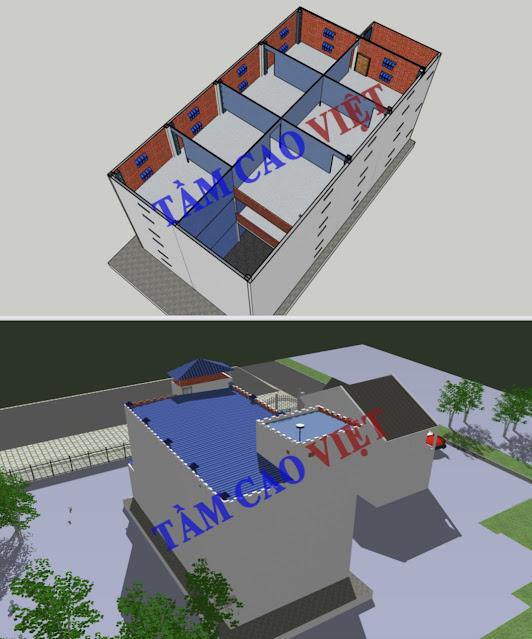 Bản vẽ thiết kế mô hình nhà nuôi yến 10x20x3 dành cho tỉnh An Giang và các tỉnh miền tây nam bộ