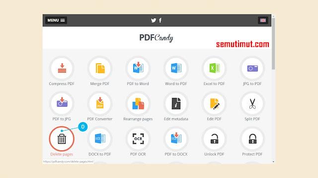 cara menghapus halaman pdf online