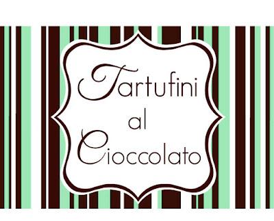 etichetta tartufini al cioccolato