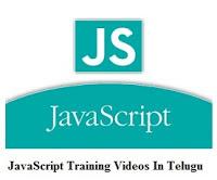 Javascript Training Videos in Telugu