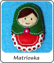 Matrioska de fieltro diy