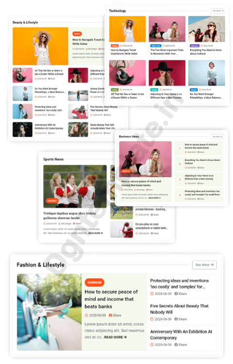 home layout jagomag blogger template