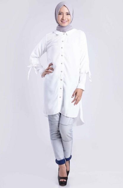 Model Kemeja Putih Wanita Berhijab Branded Terbaik 2019