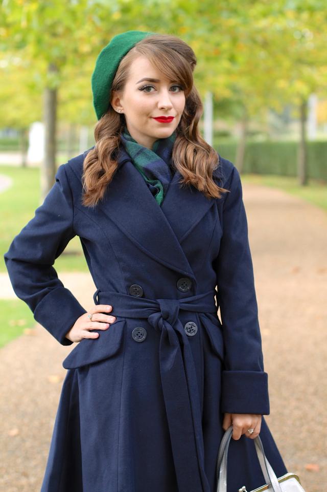Hell Bunny Olga coat in navy review