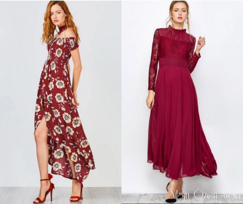 alışveriş-bordo elbisler