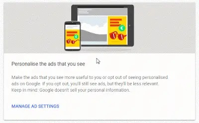 How to turn off personalized ads on browser