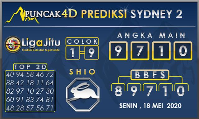 PREDIKSI TOGEL SYDNEY2 PUNCAK4D 18 MEI 2020