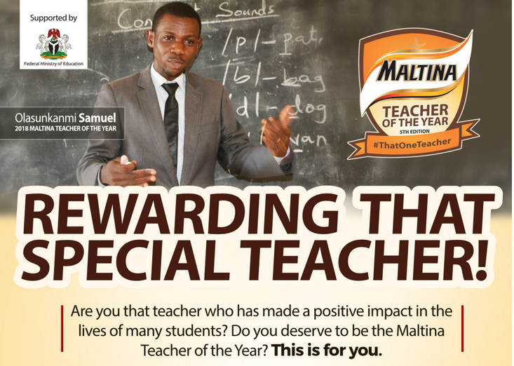 Maltina Teacher Of the Year Award 2019 application form/ how to apply