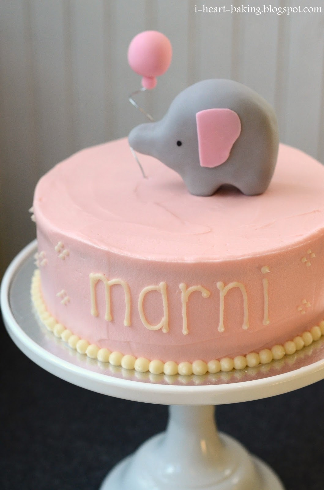 Elephant Buttercream Baby Shower Cake For Boy