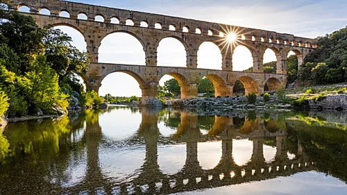 Masterpieces of ancient Roman architecture in the city of Nimes