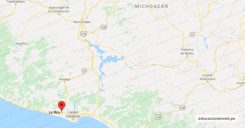 Temblor en México de Magnitud 4.0 (Hoy Sábado 01 Agosto 2020) Sismo - Epicentro - La Mira (Lázaro Cárdenas) - Michoacán de Ocampo - MICH. - SSN - www.ssn.unam.mx