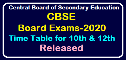 Central Board of Secondary Education (CBSE) Class Xth and XIIth Board Exam Time Table Released Download @cbse.nic.in /2019/12/CBSE-Class-Xth-and-XIIth-Board-Exam-Time-Table-Released-Download-at-cbse.nic.in.html