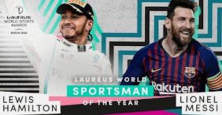 Messi shares award with Hamilton, Laureus world sports awards 2020: Full List of Winners