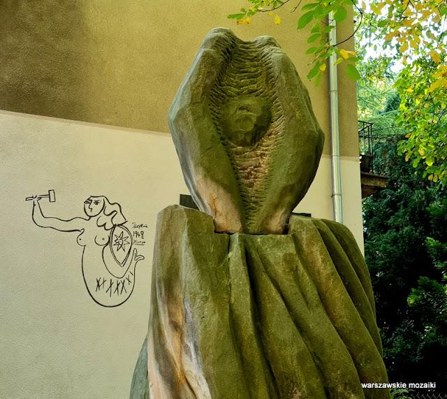 street art Warszawa Warsaw Pablo Picasso 1948 Stanisław Tołwiński Syrenka Syrena Saska Kępa