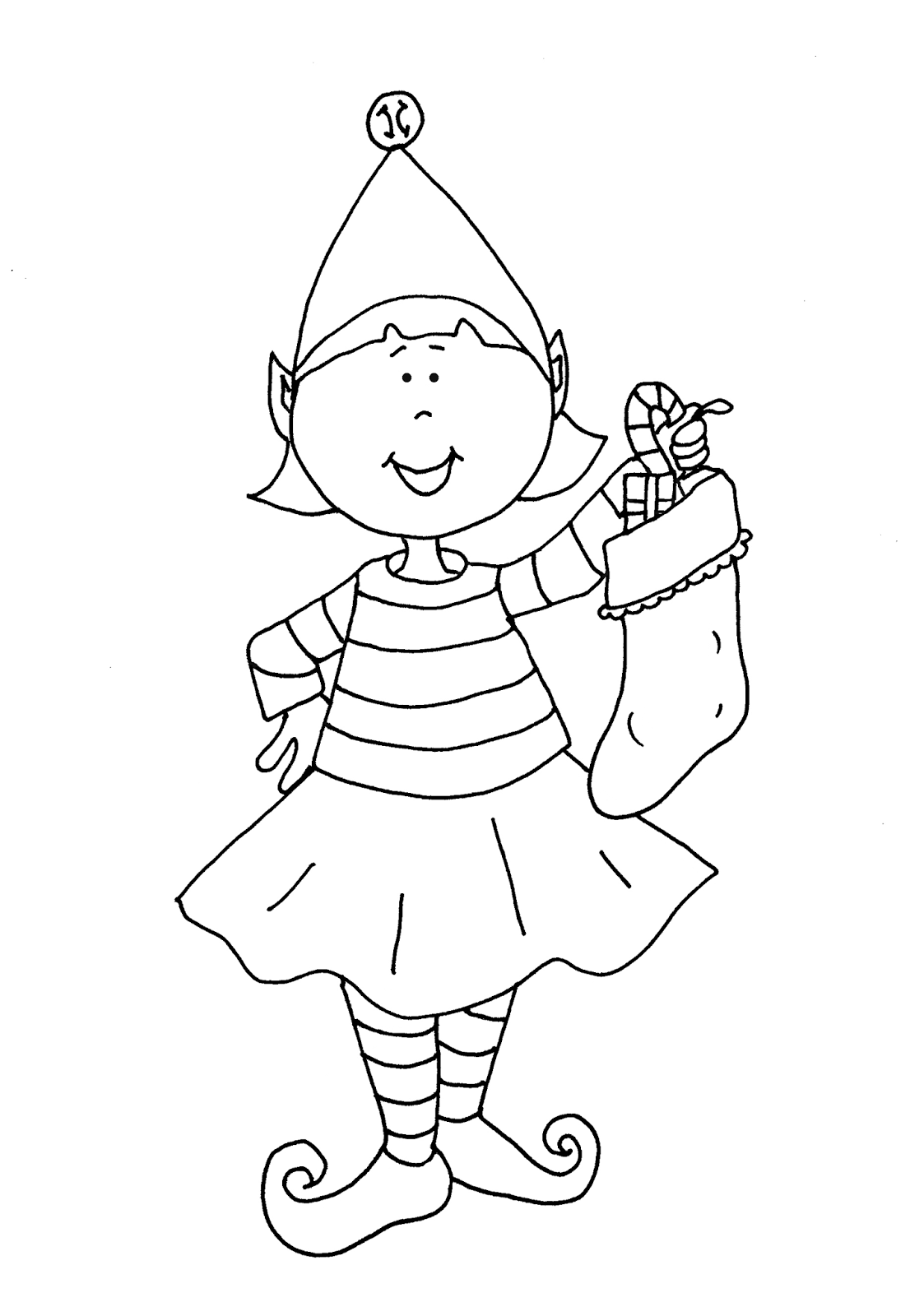 coloring pages elf | Free Dearie Dolls Digi Stamps: Elf Girl