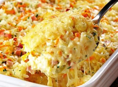 Tasty Pinch : Cheesy Baked Rice