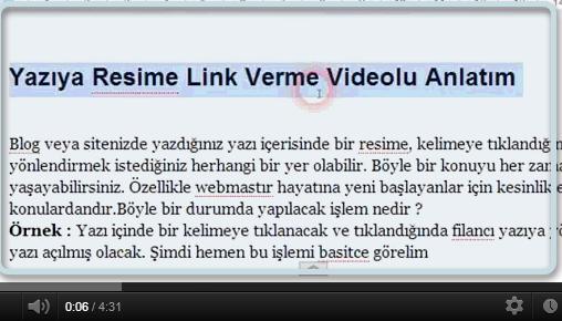 yazya resime link verme videolu anlatm