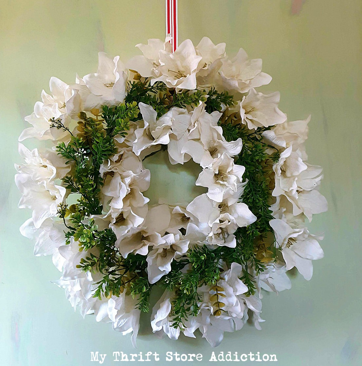 upcycled Christmas wreaths