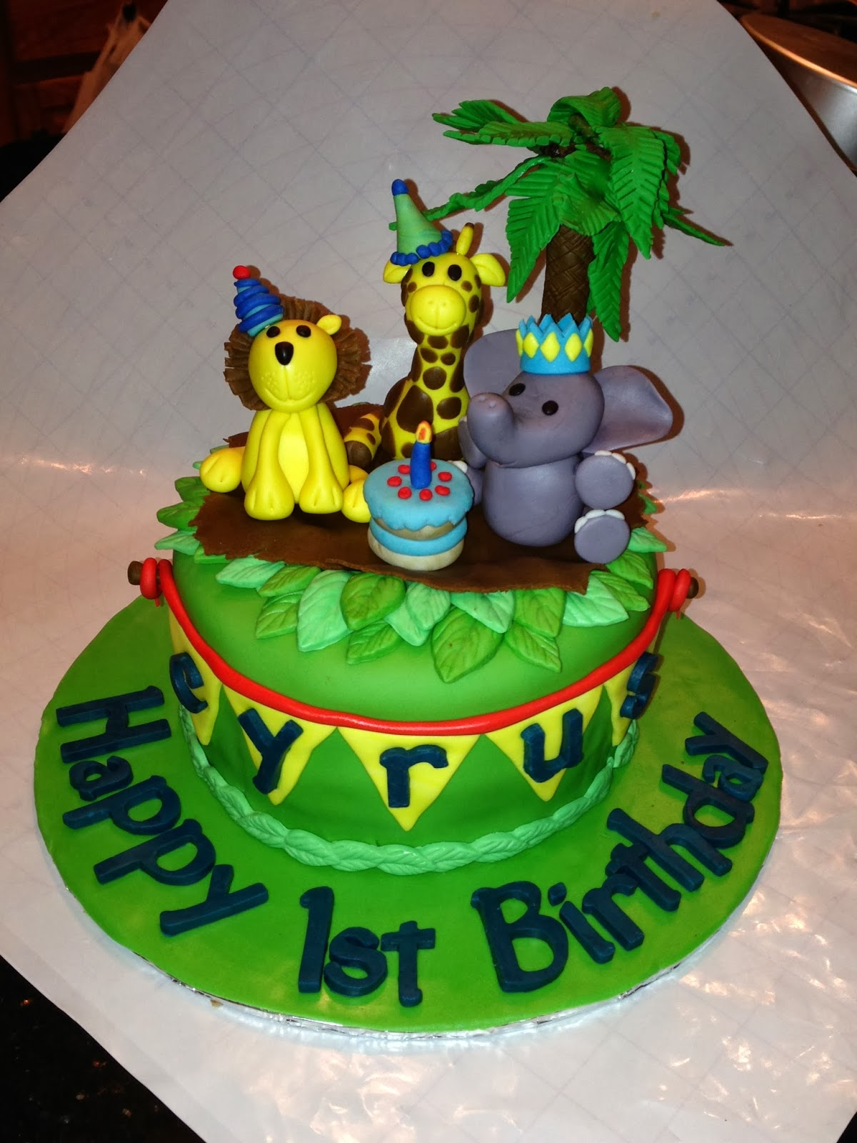 Joyce Gourmet Baby Animals For Cyrus First Birthday Cake