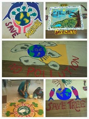 Rangoli Colours to Save Environment   LEAD
