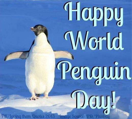 National Penguin Day Wishes Beautiful Image
