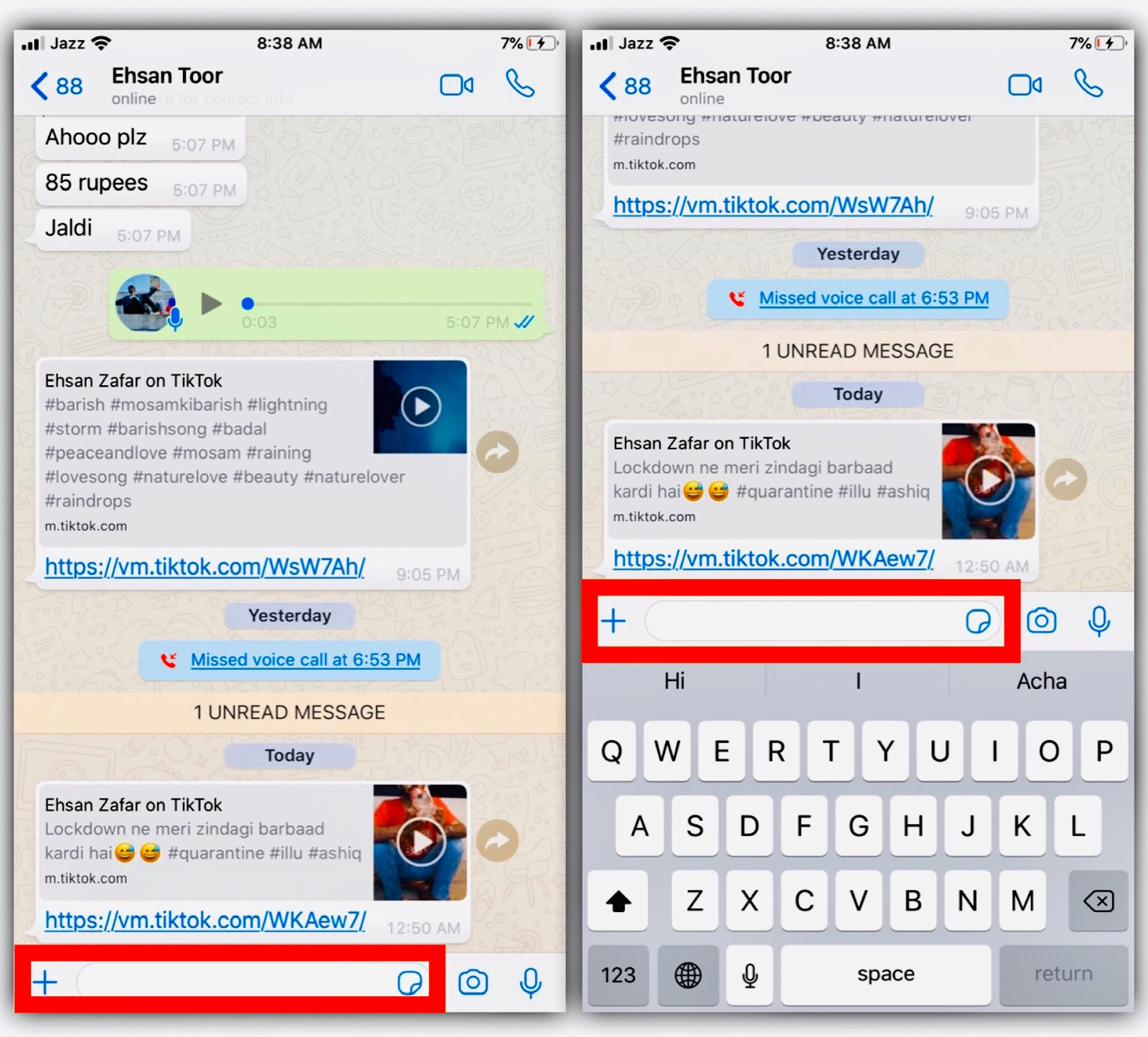 How To Send Blank Message On Whatsapp