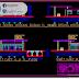 مخطط تفصيلي لمحطة بنزين صغيرة اوتوكاد dwg