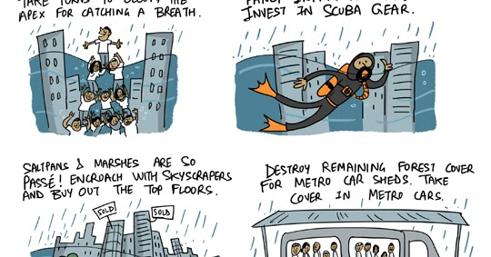 Green Humour: Six Simple Solutions for Tackling Mumbai Floods