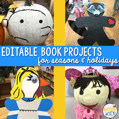 https://www.teacherspayteachers.com/Product/Book-Projects-for-seasons-holidays-editable-3433625