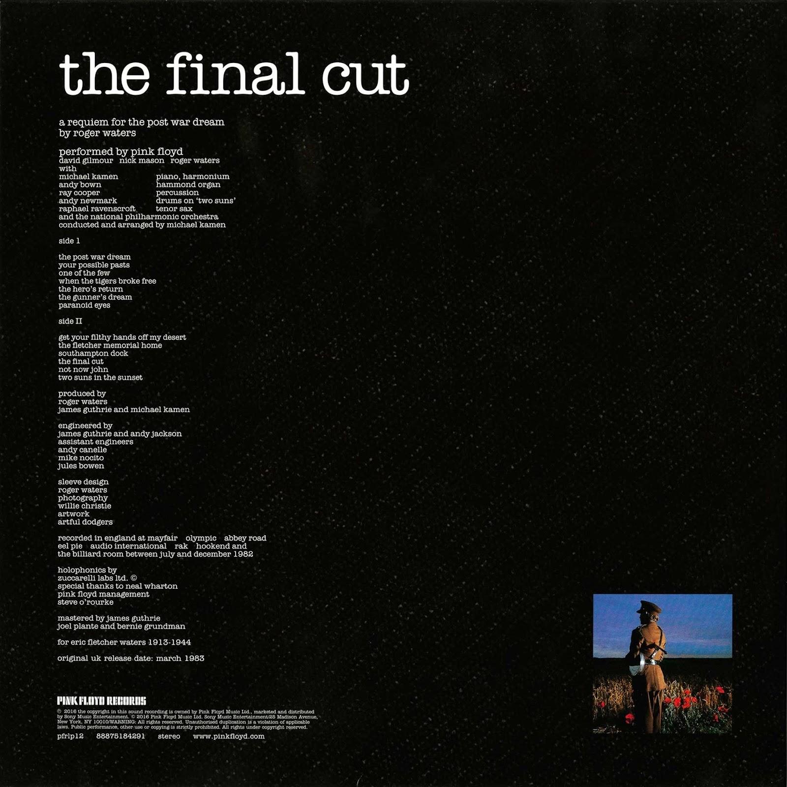 Pink Floyd Ilustrado The Final Cut L P Vinyl E U 2017
