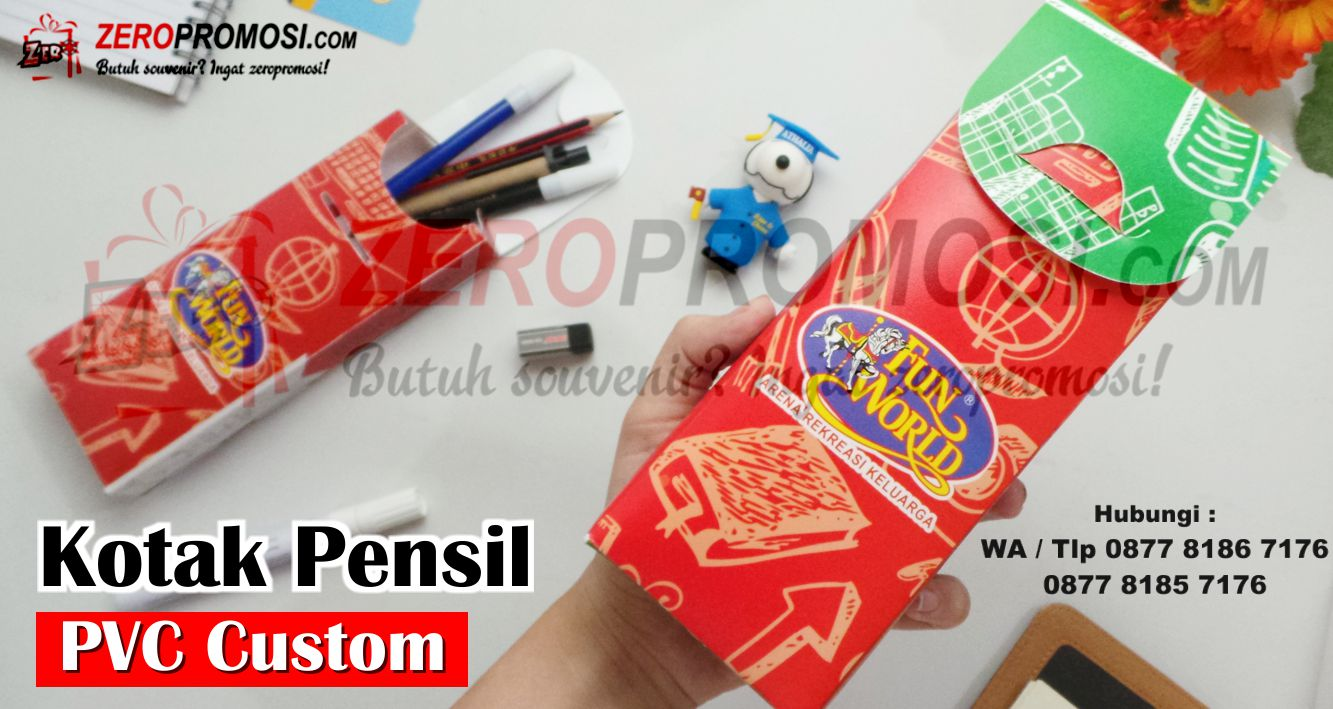 Tempat Pensil Plastik Rakit, Kotak Pensil Rakit, Tempat Pensil Lipat, Plastic Pencil Case custome, Tempat Pensil PVC Anti Air