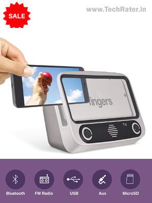 Turn Mobile into TV  Bluetooth Portable Speaker