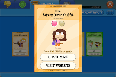 Dora the Explorer Poptropica Prize