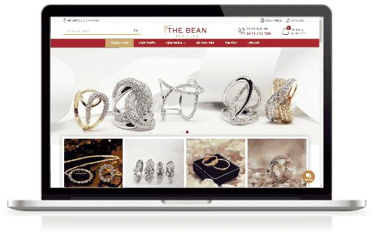 Giao diện blog bán hàng Nhẫn cưới trang sức đá quý