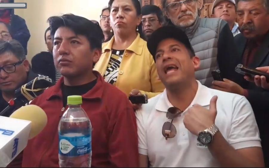 Marco Pumari y Luis Fernando Camacho, desde Potosí, en la semana, confirmaron su intención de formar un binomio presidencial / RRSS