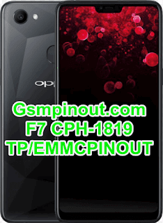 Oppo F7 CPH1819 ISP(EMMC) Pinout For EMMC Programming Flashing And Remove FRP Lock