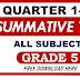 Summative Test GRADE 5 Q1- Q4