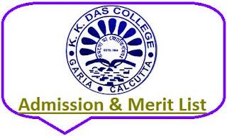 KK Das College Merit List