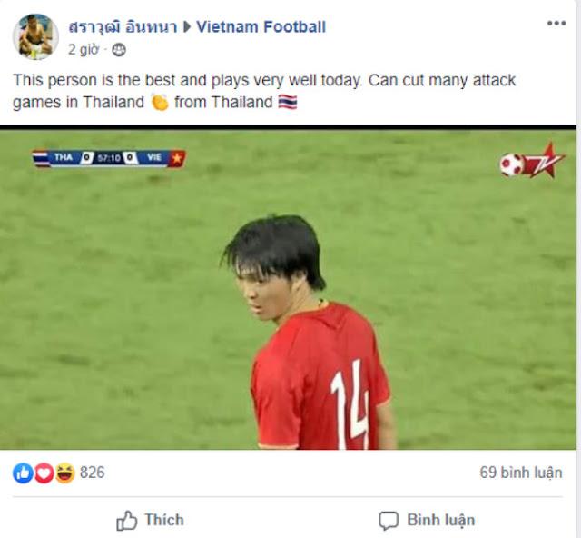 """Bất ngờ fan Thái Lan """"phát cuồng"""" 1 SAO Việt Nam, khen hay nhất trận 2"""