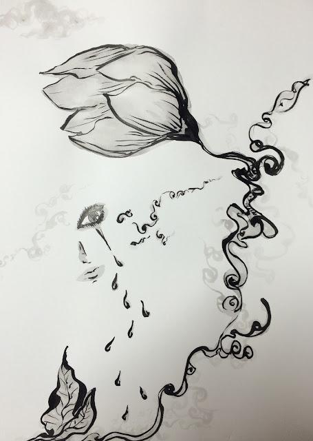 泪で花が咲くものか / Flower is not bloom in your tears.
