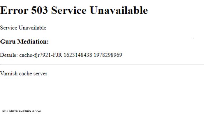 Error 503 Service Unavaible