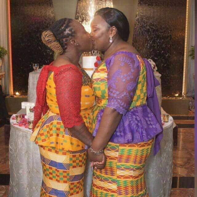 Two Ghanaian Ladies Break The Internet, Wed In UK [See Photos]