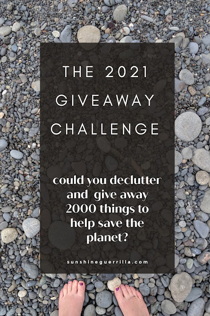 The 2021 Giveaway Challenge! Could You Declutter and Give Away 2,000 Things to Help Save the Planet?