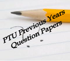 2012 B  Pharmacy PTU Previous Years Question Papers - PTU Question