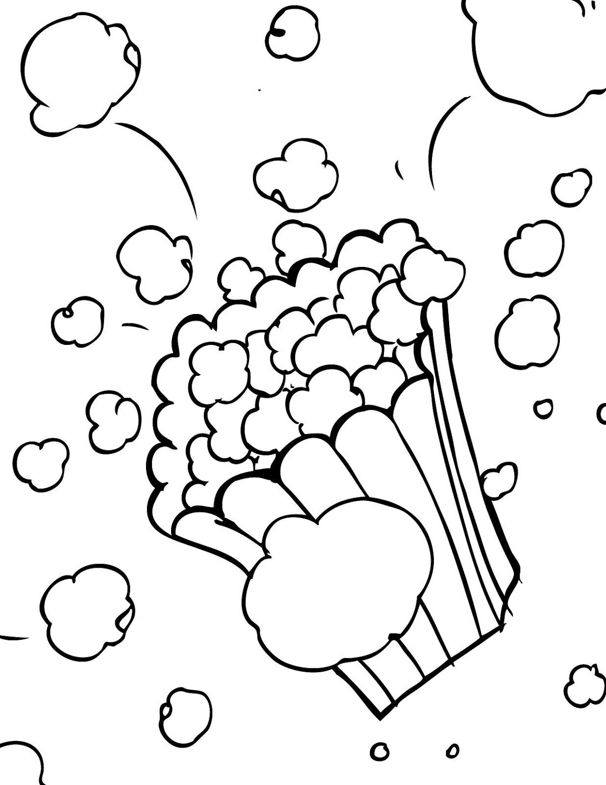 Desenhos De Pipocas Para Colorir