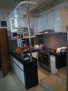 Gambar kitchen set murah model double line jakarta