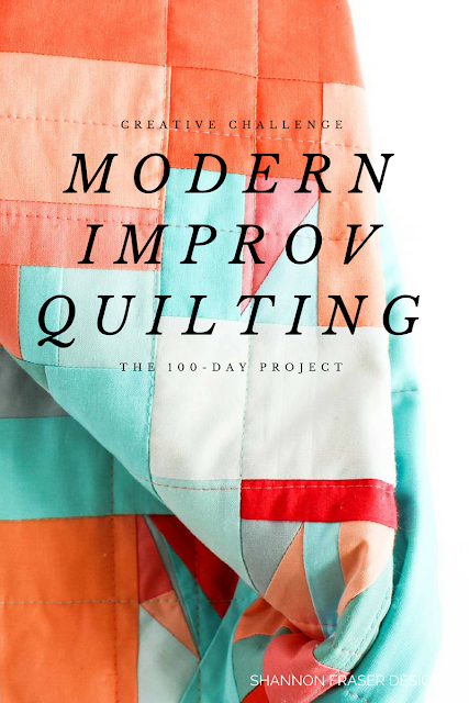 Modern Improv Quilting | Straight Line Quilting | Shannon Fraser Designs | Modern Quilting | Color | Kona Cotton | Solids Quilt | Textile Art
