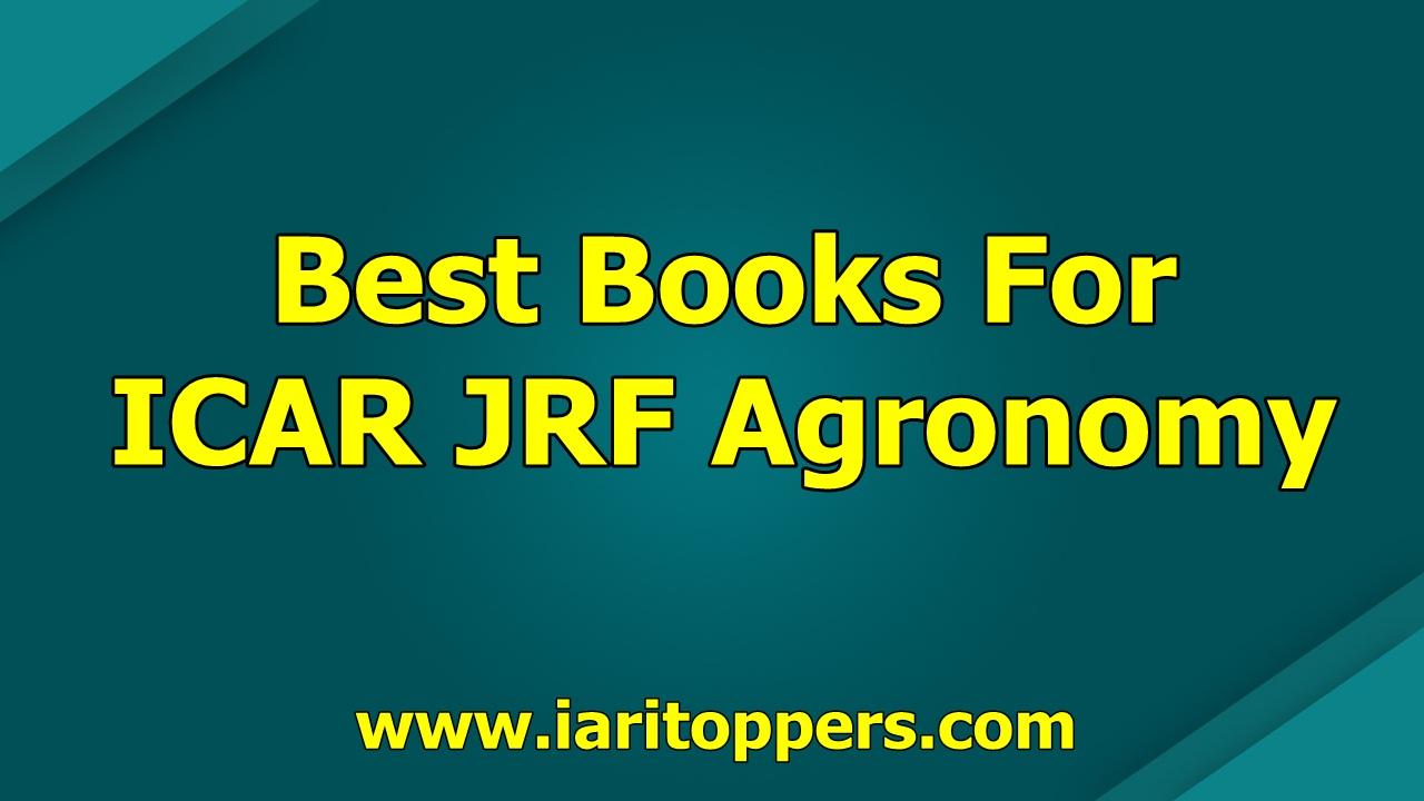 Best Books For ICAR JRF Agronomy